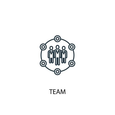 team concept line icon. Simple element illustration. team concept outline symbol design. Can be used for web and mobile
