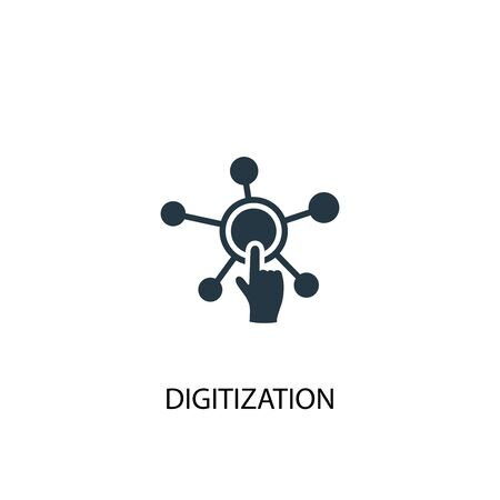 digitization icon. Simple element illustration. digitization concept symbol design. Can be used for web