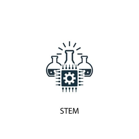 STEM icon. Simple element illustration. STEM concept symbol design. Can be used for web