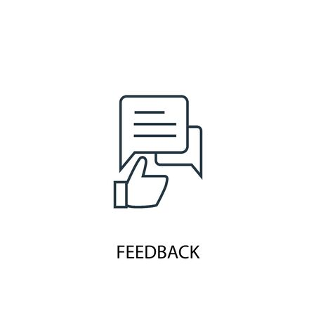 feedback concept line icon. Simple element illustration. feedback concept outline symbol design. Can be used for web and mobile