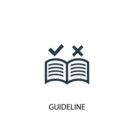 guideline icon. Simple element illustration. guideline concept symbol design. Can be used for web Stock Illustratie