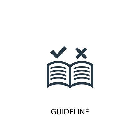 icône de ligne directrice. Illustration d'élément simple. conception de symbole de concept de ligne directrice. Peut être utilisé pour le Web