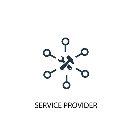 Service provider icon. Simple element illustration. Service provider concept symbol design. Can be used for web