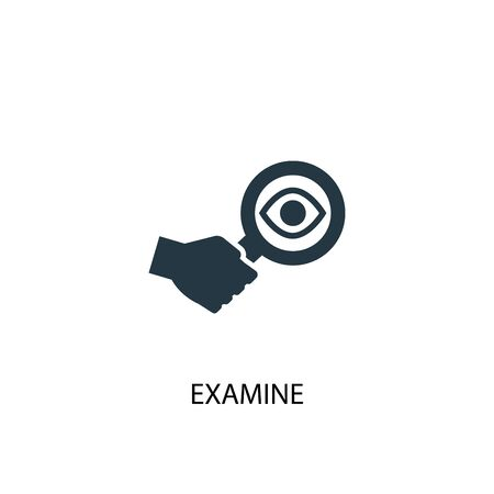 examine icon. Simple element illustration. examine concept symbol design. Can be used for web