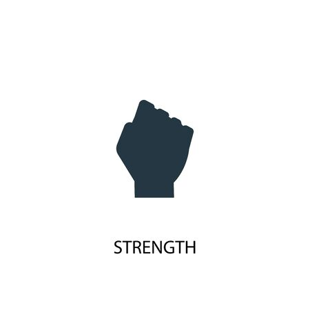 Strength icon. Simple element illustration. Strength concept symbol design. Can be used for web