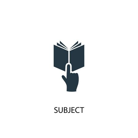 subject icon. Simple element illustration. subject concept symbol design. Can be used for web