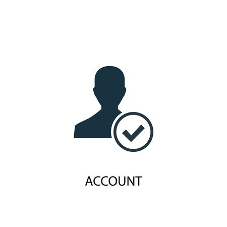 account icon. Simple element illustration. account concept symbol design. Can be used for web Illustration