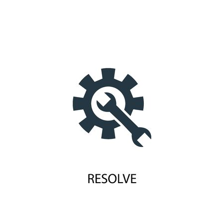 resolve icon. Simple element illustration. resolve concept symbol design. Can be used for web Illustration