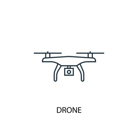 drone concept line icon. Simple element illustration. drone concept outline symbol design. Can be used for web and mobile Stock Illustratie