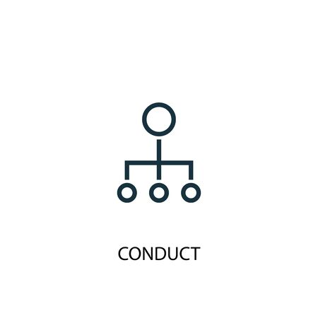conduct icon. Simple element illustration. conduct concept symbol design. Can be used for web 写真素材 - 130223854