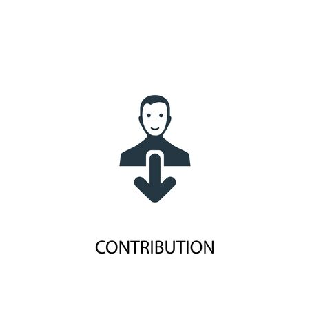 contribution icon. Simple element illustration. contribution concept symbol design. Can be used for web Illustration