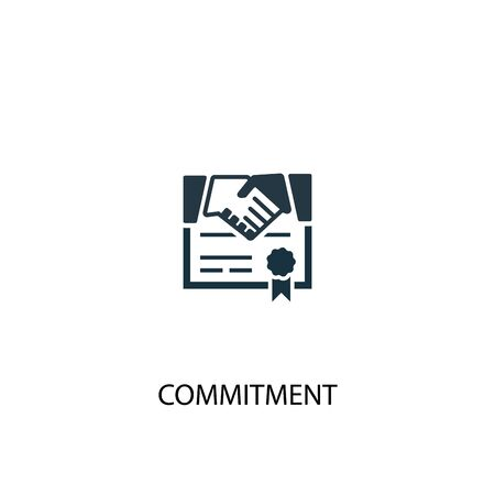 commitment icon. Simple element illustration. commitment concept symbol design. Can be used for web