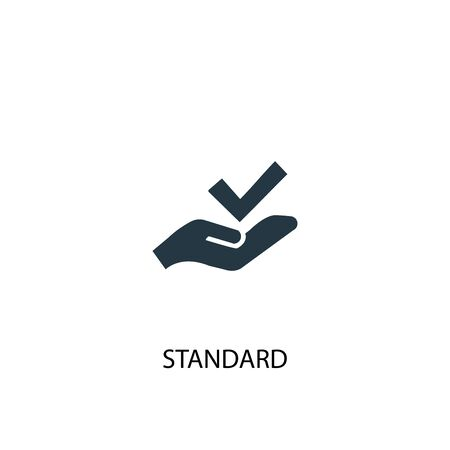 standard icon. Simple element illustration. standard concept symbol design. Can be used for web Çizim