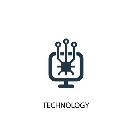technology icon. Simple element illustration. technology concept symbol design. Can be used for web Çizim