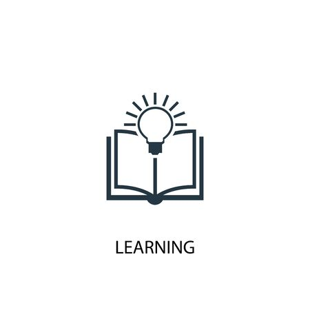 learning icon. Simple element illustration. learning concept symbol design. Can be used for web