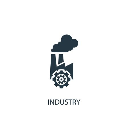 industry icon. Simple element illustration. industry concept symbol design. Can be used for web