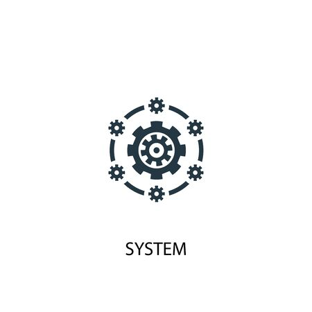 system icon. Simple element illustration. system concept symbol design. Can be used for web