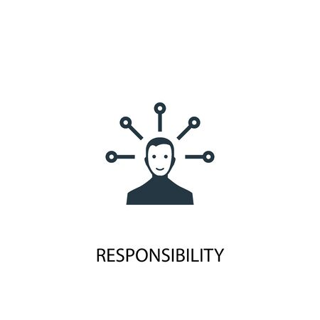 icône de responsabilité. Illustration d'élément simple. conception de symbole de concept de responsabilité. Peut être utilisé pour le Web