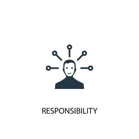 icono de responsabilidad. Ilustración de elemento simple. diseño de símbolo de concepto de responsabilidad. Puede usarse para web