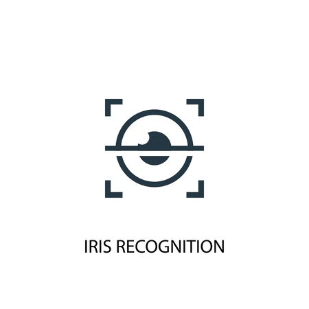 iris recognition icon. Simple element illustration. iris recognition concept symbol design. Can be used for web