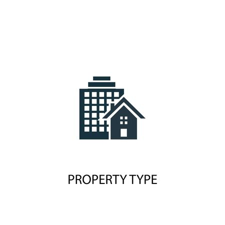 Property Type icon. Simple element illustration. Property Type concept symbol design. Can be used for web Stock fotó - 130223872