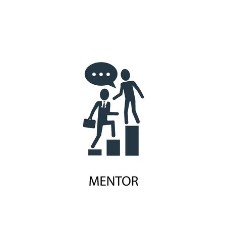 mentor icon. Simple element illustration. mentor concept symbol design. Can be used for web