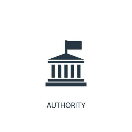 authority icon. Simple element illustration. authority concept symbol design. Can be used for web Çizim