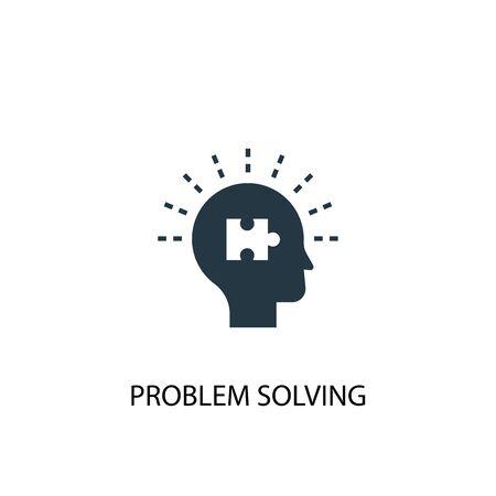 icona di risoluzione dei problemi. Illustrazione semplice dell'elemento. disegno di simbolo del concetto di risoluzione dei problemi. Può essere utilizzato per il web