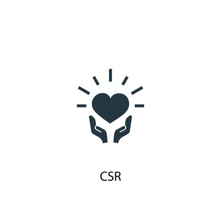 CSR icon. Simple element illustration. CSR concept symbol design. Can be used for web Banco de Imagens - 130224021