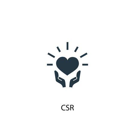 Icône RSE. Illustration d'élément simple. Conception de symbole de concept de RSE. Peut être utilisé pour le Web Vecteurs