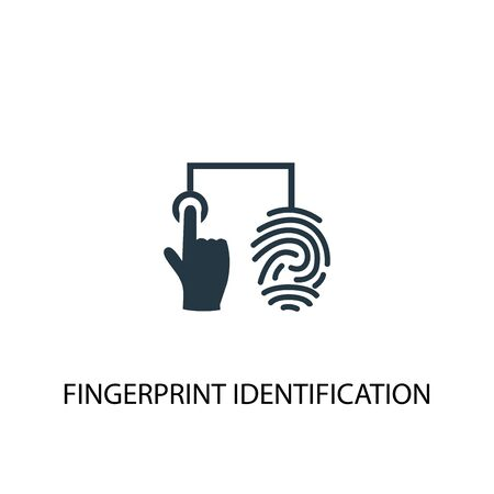 fingerprint identification icon. Simple element illustration. fingerprint identification concept symbol design. Can be used for web Stock Illustratie