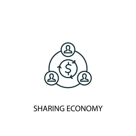 sharing economy concept line icon. Simple element illustration. sharing economy concept outline symbol design. Can be used for web and mobile