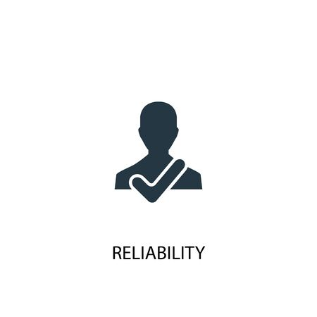 reliability icon. Simple element illustration. reliability concept symbol design. Can be used for web 向量圖像