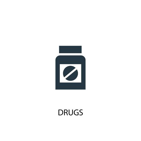 drugs icon. Simple element illustration. drugs concept symbol design. Can be used for web Illustration