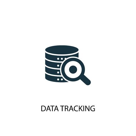 data tracking icon. Simple element illustration. data tracking concept symbol design. Can be used for web  イラスト・ベクター素材