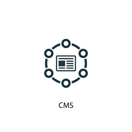 CMS icon. Simple element illustration. CMS concept symbol design. Can be used for web