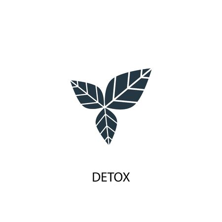 detox icon. Simple element illustration. detox concept symbol design. Can be used for web Çizim