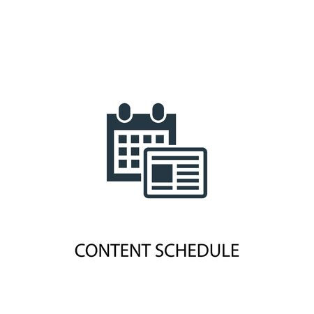 content schedule icon. Simple element illustration. content schedule concept symbol design. Can be used for web