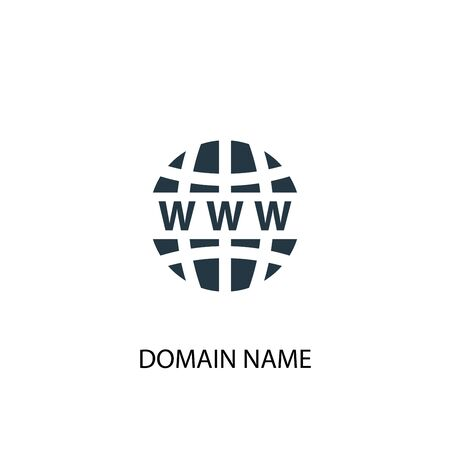 Domain Name icon. Simple element illustration. Domain Name concept symbol design. Can be used for web Vettoriali