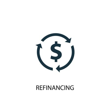 Refinancing icon. Simple element illustration. Refinancing concept symbol design. Can be used for web