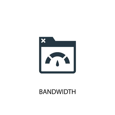 Bandwidth icon. Simple element illustration. Bandwidth concept symbol design. Can be used for web 向量圖像
