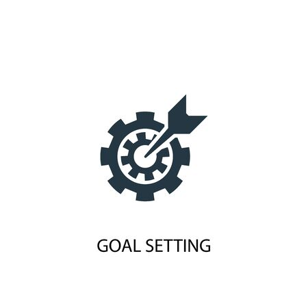 goal setting icon. Simple element illustration. goal setting concept symbol design. Can be used for web Ilustração