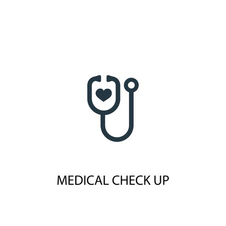 medical check up icon. Simple element illustration. medical check up concept symbol design. Can be used for web