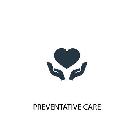 Preventive care icon. Simple element illustration. Preventive care concept symbol design. Can be used for web