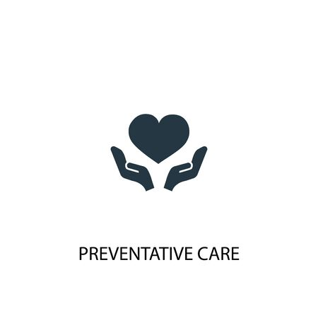 Preventive care icon. Simple element illustration. Preventive care concept symbol design. Can be used for web