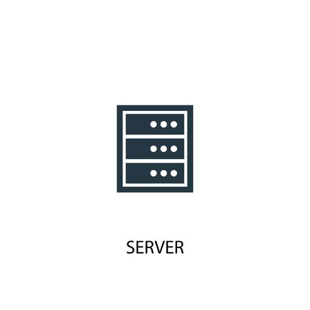 Server icon. Simple element illustration. Server concept symbol design. Can be used for web and mobile.