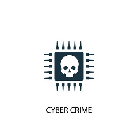 cyber crime icon. Simple element illustration. cyber crime concept symbol design. Can be used for web