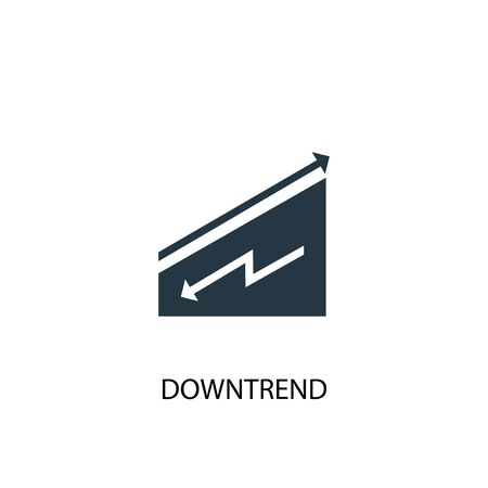 downtrend icon. Simple element illustration. downtrend concept symbol design. Can be used for web