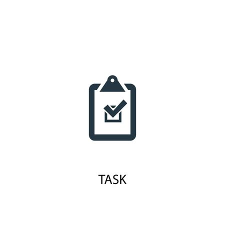 task icon. Simple element illustration. task concept symbol design. Can be used for web Illustration