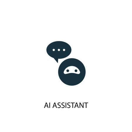 AI assistant icon. Simple element illustration. AI assistant concept symbol design. Can be used for web